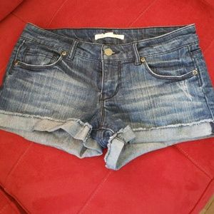 Distressed Forever 21 Denim Shorts